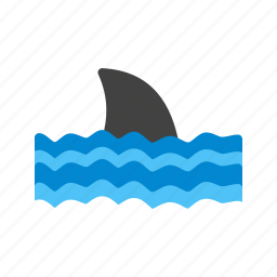 caution, danger, safety, shark, sign, warning, water icon