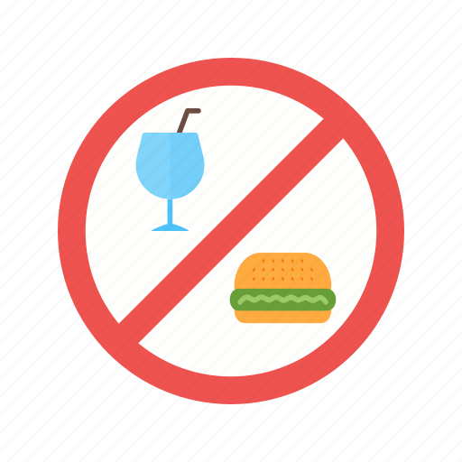 drinks, food, information, no, prohibited, shop, sign icon