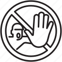 abuse, hand, man, no, signs, stop, warning icon