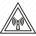 attention, danger, radiation, stop, warnings icon