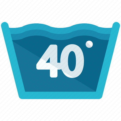 degrees, forty, instructions, machine, temperature, washing icon
