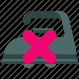 clothes, clothing, instructions, ironing, machine, no, washing icon