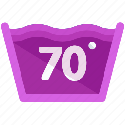 degrees, instructions, machine, seventy, temperature, washing icon