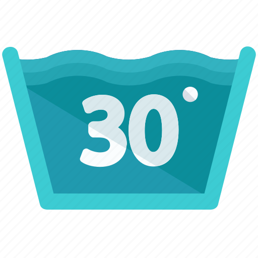 degrees, instructions, machine, temperature, thirty, washing icon
