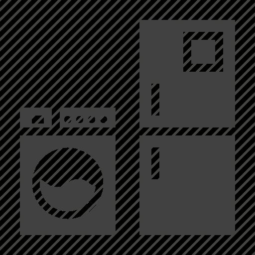 appliances, frige, major, washer icon