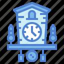 alarm, clock, craft, cuckoo, wood