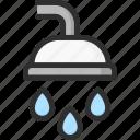 clean, shower, wash, water icon