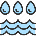 drop, water, wave icon