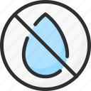 no, out, sign, water icon