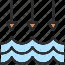 arrow, level, low, water