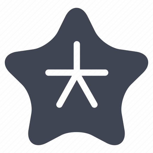 activities, fish, marine, ocean, star, water icon