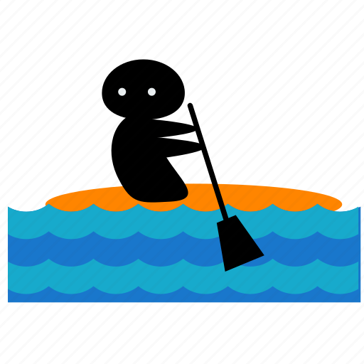 activities, canoeing, nautical, ocean, sea, water icon