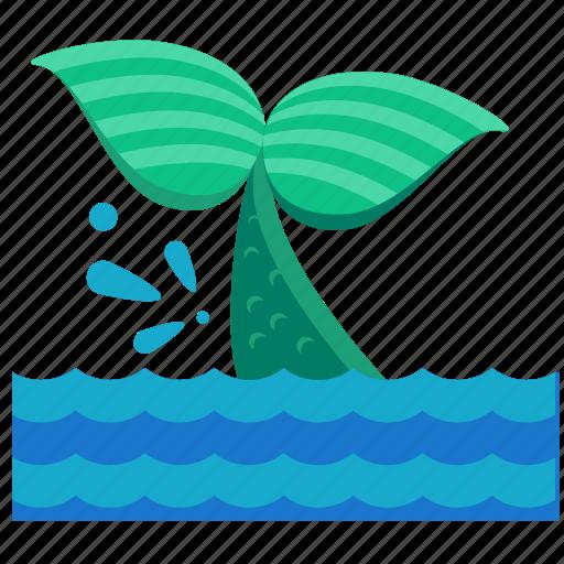 activities, fish, mermaid, nautical, tail, water icon