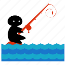 activities, equipment, fishing, ocean, sea, sport, water icon