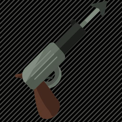 activities, equipment, harpoon, water, weapon icon