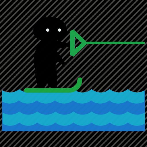 activities, kite, ocean, sea, surf, surfing, water icon