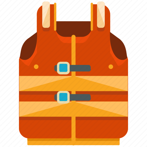 accessories, activities, equipment, life, vest, water icon