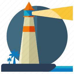 activities, flash, lighthouse, tower, tree, water icon