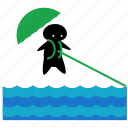 activities, ocean, parasailing, sea, sport, water icon