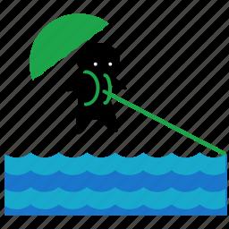 activities, ocean, parasailing, sea, sport, water icon
