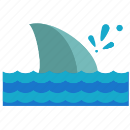 activities, animal, nautical, ocean, sea, shark, water icon