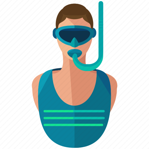 activities, male, man, mask, snorkler, water icon