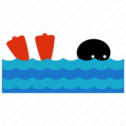 activities, flippers, ocean, sea, swim, swimming, water icon