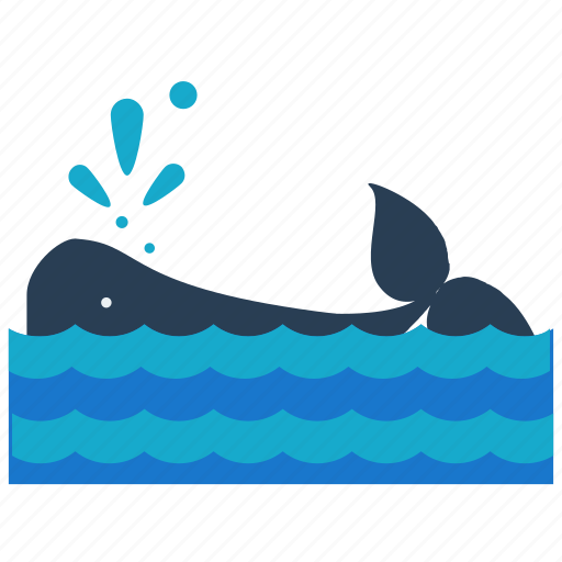 animal, nautical, ocean, sea, water, whale icon