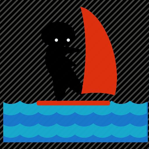 activities, ocean, sea, surf, surfing, water, wind icon