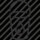 bucket, drop, water icon