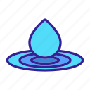 contour, drop, liquid, splash, water, waterdrop, wave icon