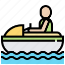 jetski, speed, sport, vehicle icon