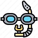 glasses, glassware, goggles, swimming, water icon