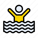 avatar, enjoyment, outdoor, swimming, water icon