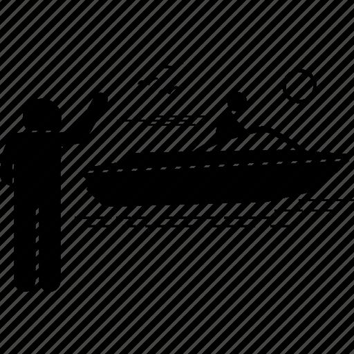 boat, motor, motorboat icon