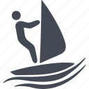 sail, speed, swimmer, water polo, water sport, wetsuit, wind icon