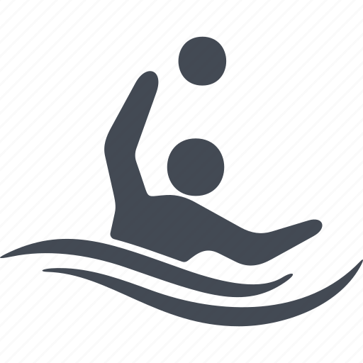 speed, swimmer, water polo, water sport, wetsuit, wind icon