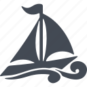 ship, speed, swimmer, water polo, water sport, wetsuit, wind icon