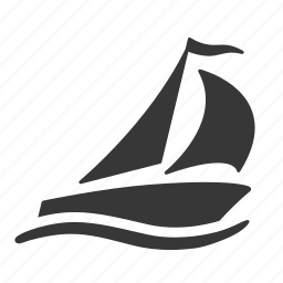 exercise, olympics, raw, sailboat, sailing boat, simple, sport, water sports icon