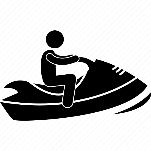 Boat, man, motorboat, person, speedboat, sport, water icon - Download on Iconfinder