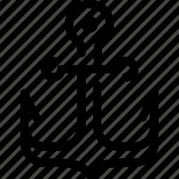 anchor, boat, marine, ship, url icon