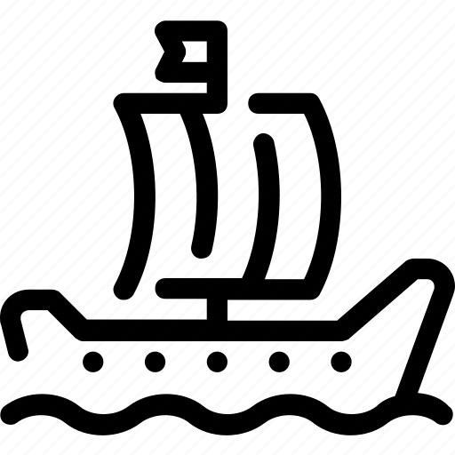 marine, sail, sailboat, ship, vessel icon