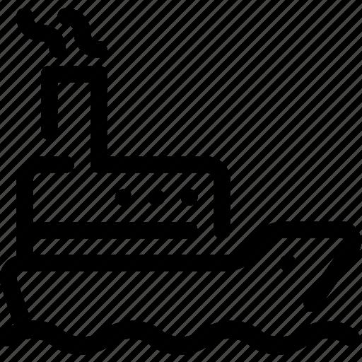 marine, sea, ship, steamboat, steamship, vessel icon