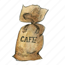 bag, coffee, burlap, sack