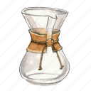chemex, coffee, drip, pour-over icon