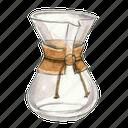 pour-over, coffee, drip, chemex icon