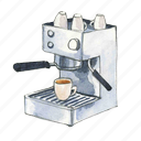 coffee, espresso, machine icon