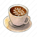 coffee, espresso, latte icon