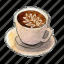 coffee, espresso, latte