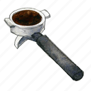 coffee, espresso, handle icon